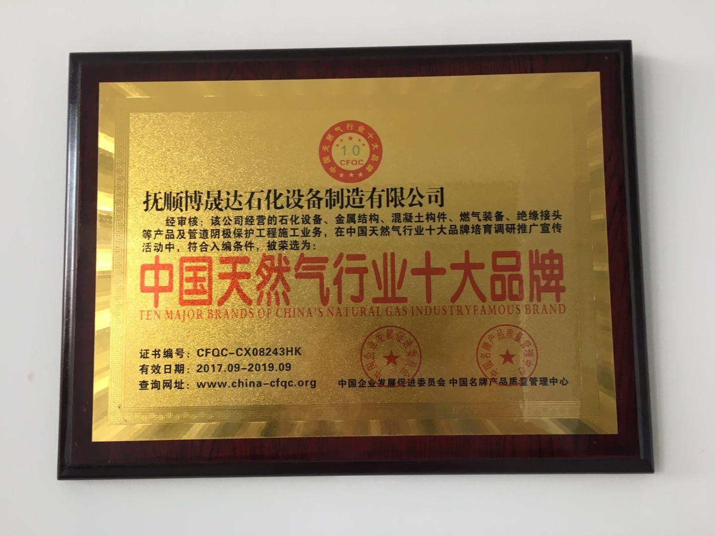 zhong国天然气xing业shi大品牌
